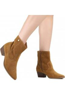 Bota Ankle Boot Via Marte Cano Curto