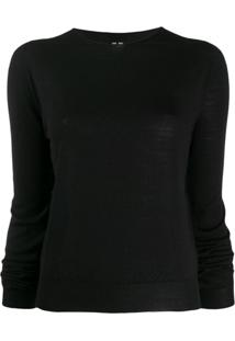 Rick Owens Suéter Decote Careca - Preto