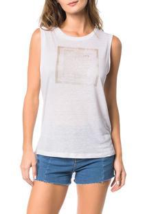 Blusa Calvin Klein Jeans Com Estampa Frontal Off White - M