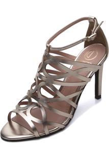 Sandália Dumond Metalizada Dourada