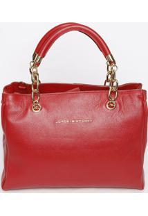 Bolsa Em Couro Com Recortes- Vermelha- 27X32X12Cmjorge Bischoff
