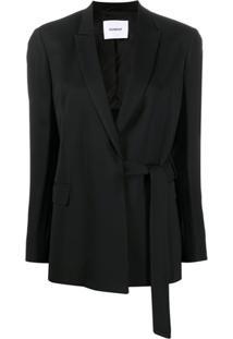 Dondup Blazer Com Amarração Lateral E Fenda Posterior - Preto