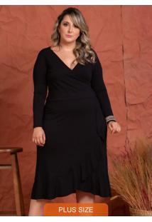 Vestido Midi Carol Preto