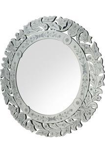 Espelho Marco- Espelhado & Cinza- Ø90X1,6Cmrivatti