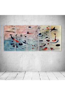 Quadro Decorativo - Abstract Art - Composto De 5 Quadros - Multicolorido - Dafiti