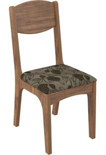 Cadeira Ca12 Chenille Floral Escuro Nobre Fosco
