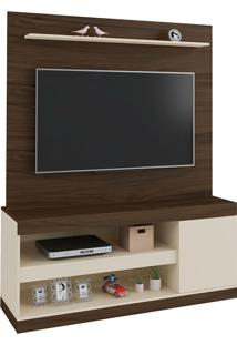 Estante Para Tv De 60'' Polegadas Capri- Artely - Amendoa / Off White