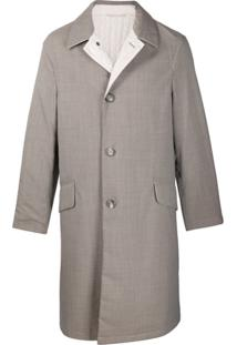 Salvatore Ferragamo Trench Coat Pied-De-Poule - Marrom