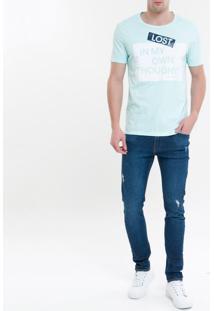 Camiseta Ckj Mc Est Thoughts - Verde Claro - Pp