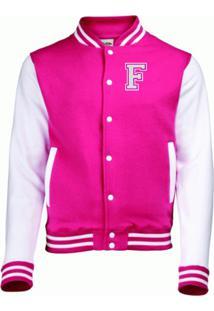 Jaqueta College4Ever Letra F Bordada Pink