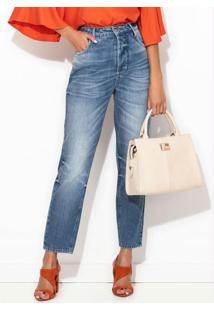 Calça Jeans Mom Azul