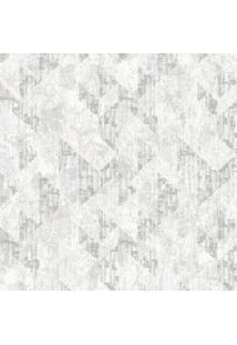 Papel De Parede Castelani Geométrico- Cinza Claro & Cinzedantex