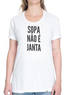 Sopa Não É Janta - Camiseta Basicona Unissex