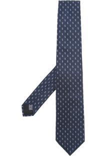 Cerruti 1881 Gravata De Seda Com Padronagem Geométrica - Azul