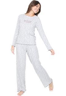 Pijama Cor Com Amor Estampado Cinza
