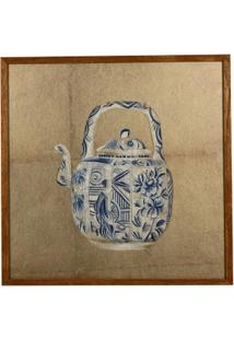Quadro Decorativo Com Moldura De Porcelana - Unissex