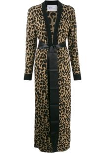 Be Blumarine Cardigan Animal Print - Marrom