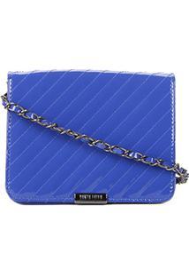 Bolsa Santa Lolla Mini Bag Verniz Feminina - Feminino-Azul
