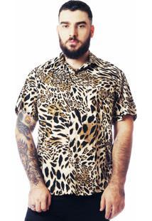 Camisa Animal Print Estampada Elephunk Onça