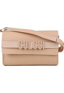 Bolsa Colcci Mini Bag Firenze Relevo Feminina - Feminino-Bege