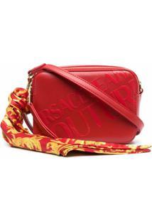 Versace Jeans Couture Bolsa Transversal Com Estampa De Logo - Vermelho