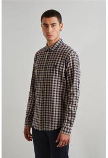 Camisa Reserva Pf Vichy Botone Inv 19 Masculina - Masculino-Marrom