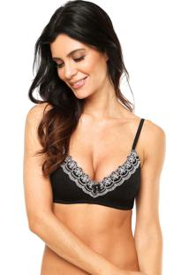 Sutiã Valisere Estruturado Magnolia Push-Up Preto