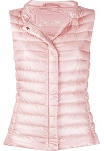 Herno Fitted Padded Gilet - Rosa
