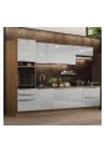 Cozinha Completa Madesa Lux 320004 Com Armário E Balcão - Rustic/Cinza