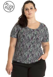 Blusa Konciny Viscolycra Plus Size Colorido