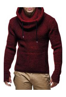 Blusa De Lã Masculino Queensland - Vermelha
