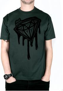 Camiseta Bleed American Shine Diamond Musgo
