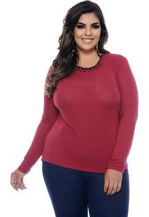Blusa Marie Plus Size Confort Feel Cabernet