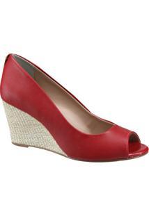 Sapato Anabela Cravo E Canela