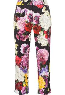Dolce & Gabbana Calça Floral - Hnw86 Black