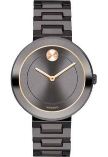 Relógio Movado Feminino Aço Cinza - 3600500