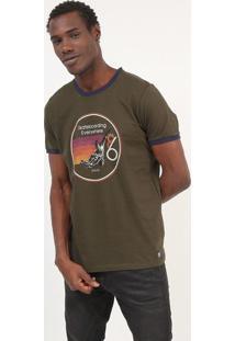 "Camiseta ""Skateboarding Everywhere"" - Verde & Marromcolcci"