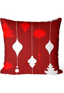 Capa De Almofada Love Decor Avulsa Decorativa Elementos Natalinos Vermelho