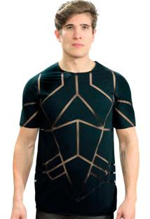 Camiseta Klauk Transparente Geometric Preto