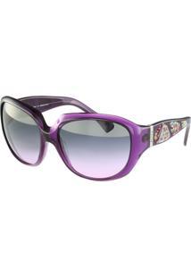 Óculos De Sol Emilio Pucci Fashion Roxo