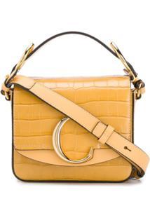 Chloé Mini Chloé C Crossbody Bag - Amarelo