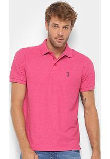 Camisa Polo Aleatory Piquet Básica Masculina - Masculino-Rosa