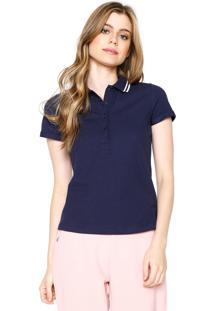 Camisa Polo Hering Reta Azul-Marinho