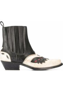 Golden Goose Ankle Boot Sunset Flowers - Preto