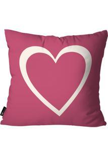 Capa Para Almofada Mdecore Coração Pink 35X35Cm