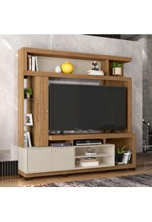 Estante Para Home Theater E Tv Até 65 Polegadas Imperium Buriti E Off White