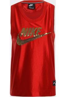 Camiseta Regata Nike Nsw Vermelha Feminina G