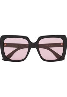 426b340e5a9a7 R  1748,00. Farfetch Gucci Eyewear Óculos De Sol Quadrado ...