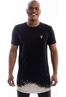 Camiseta Manga Curta Valks Longline Blast Preta