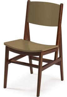 Cadeira Dumon Cacau E Marrom Médio